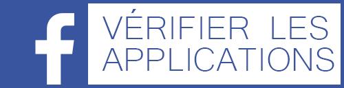 Vérifier données personnelles applications Facebook
