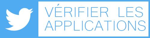 Vérifier données personnelles applications Twitter